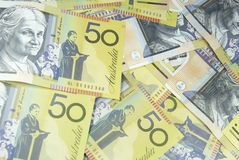 Cinquante notes du dollar image libre de droits
