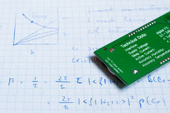 Notes for electrical circuits Stock Photography
