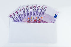 500€ notes in an envelope Stock Images