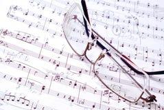 Notes et crayon lecteur de musique Images libres de droits