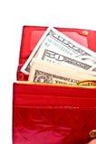 Notes et pochette du dollar Photos libres de droits