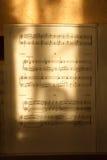 Notes faciles avec des lignes du soleil - verticale Image libre de droits