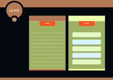 Notes flat design ui elements for mobile app Royalty Free Stock Photo