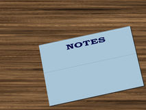 Notes folder. Folder on desk for notes Royalty Free Stock Photos