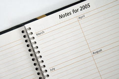 Free Notes For 2005 Stock Photography - 77272