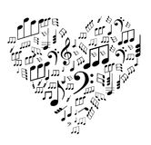 Notes on the heart Royalty Free Stock Images