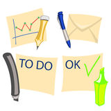 Notes icons Royalty Free Stock Image