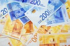 Notes israéliennes d'argent Images libres de droits
