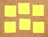 Notes jaunes d'autocollant Image stock