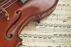 German violin of the nineteenth century. Royalty Free Stock Images