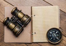 Notes for marine adventurer Royalty Free Stock Images