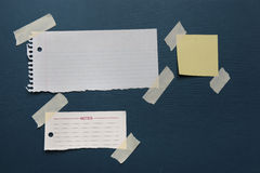 Notes with masking tape Royalty Free Stock Photos