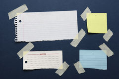 Notes with masking tape Stock Photography