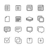 Notes, memos and plans icons Royalty Free Stock Image