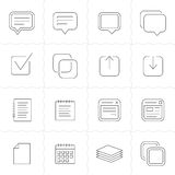 Notes, memos and plans icons Stock Photos