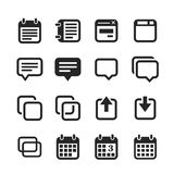 Notes, memos and plans icons Stock Image