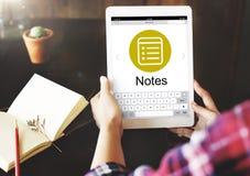 Notes Message Icon Webpage Concept Stock Photos