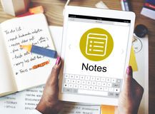 Notes Message Icon Wepage Concept Royalty Free Stock Image