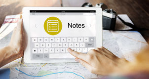 Notes Message Icon Wepage Concept Royalty Free Stock Photography