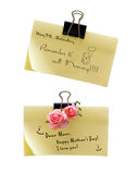 Notes about mothers day. The above text can be replaced Stock Photo