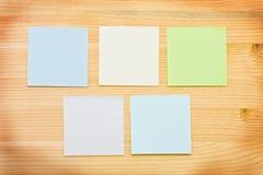 Notes multicolores image libre de droits