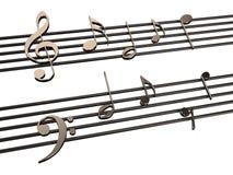 Notes. Music notes  isolated on  white background Stock Image