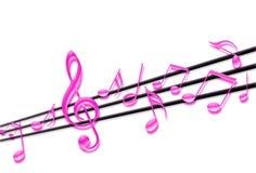 Notes musicales Photos libres de droits