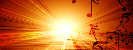 Notes musicales Image libre de droits