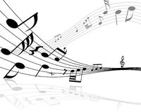 Notes musicales Images libres de droits