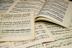 Notes musicales Image stock