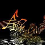 Notes musicales Image libre de droits