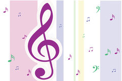 Notes musicales illustration stock