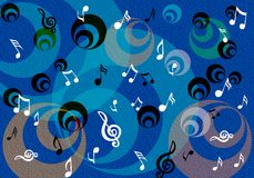 Notes musicales abstraites Photo stock