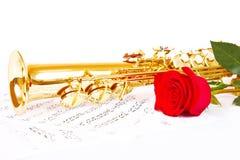 Notes musicales et saxophone Image libre de droits