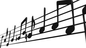 Notes musicales sur le personnel Photographie stock libre de droits