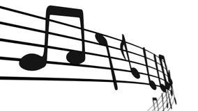 Notes musicales sur le personnel Images stock