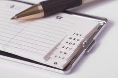 notes na adresy biznes Obrazy Stock