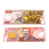 Notes in New Zealand currency. Close up image of one fifty Dollar notes in New Zealand currency, front and back Royalty Free Stock Photography