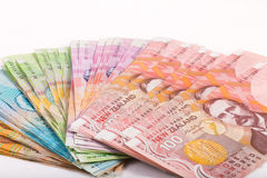 Notes in New Zealand currency Royalty Free Stock Image