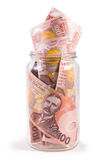 Notes in New Zealand currency Stock Image