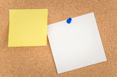 Notes on a Noticeboard Royalty Free Stock Image