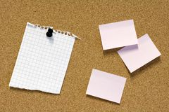 Notes On Pinboard Royalty Free Stock Photo