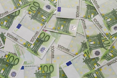 Notes One Hundred Euro Royalty Free Stock Image