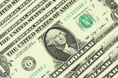 Notes one US dollar background Royalty Free Stock Photography