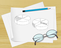 Notes on paper Royalty Free Stock Photos