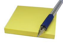 Notes with pen Royalty Free Stock Photo