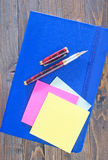 Notes and pens Royalty Free Stock Photography
