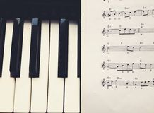 Notes and piano Stock Photography