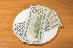 Notes on a plate royalty free stock photography