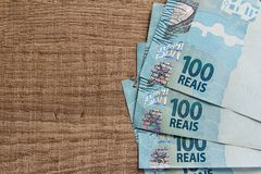 Notes of Real, Brazilian currency. Money from Brazil. stock photography